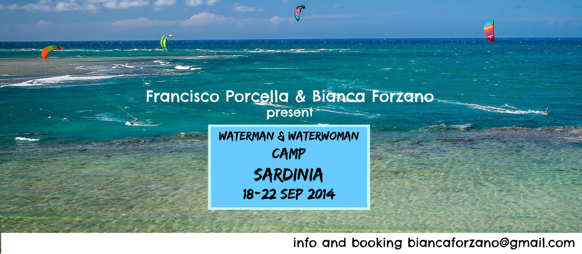 Waterman & Waterwoman CAMP – SARDINIA 18-22 August
